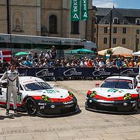 #91, #92, Porsche 911 RSR (2017), Porsche GT Team, on 12/06/2017 Scrutineering at the 24H of Le Mans, 2017