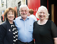 18/07/2017 Repro Free:     Maureen and Tom Kenny with Marie Mullen  at the opening night of Crestfall by Mark Rowe directed by Annabelle Comyn at the Mick Lally Theatre, Druid Lane Galway  during the 40th Galway International Arts Festival. Photo:Andrew Downes, xposure .