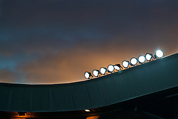 SUNDERLAND, ENGLAND - Monday, January 2, 2017: Floodlights on the roof of Sunderland's Stadium of Light during the FA Premier League match against Liverpool. (Pic by David Rawcliffe/Propaganda)