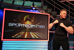 March 29, 2011; Bristol, CT, USA; Brock Lesnar spends the day at the ESPN Studios in Bristol, CT.