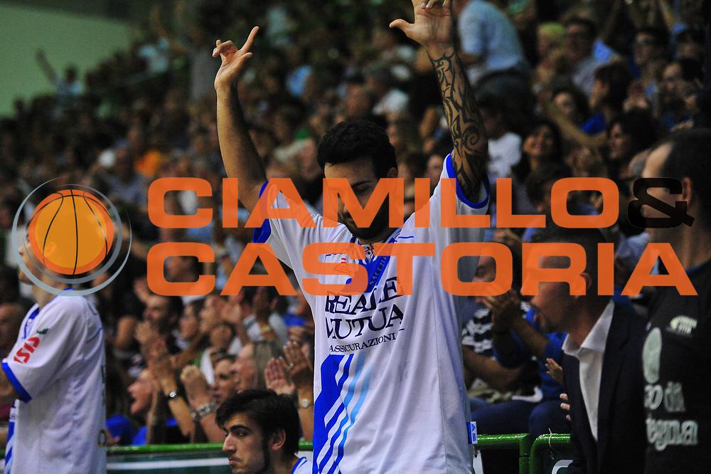 DESCRIZIONE : Sassari Lega A 2013-14 Dinamo Sassari - Pallacanestro Cant&ugrave;<br /> GIOCATORE :Brian Sacchetti<br /> CATEGORIA :Esultanza<br /> SQUADRA : Dinamo Sassari<br /> EVENTO : Campionato Lega A 2013-2014 <br /> GARA : Dinamo Sassari - Pallacanestro Cant&ugrave;<br /> DATA : 20/10/2014<br /> SPORT : Pallacanestro <br /> AUTORE : Agenzia Ciamillo-Castoria/M.Turrini<br /> Galleria : Lega Basket A 2013-2014  <br /> Fotonotizia : Sassari Lega A 2013-14 Dinamo Sassari - Pallacanestro Cant&ugrave;<br /> Predefinita :