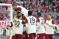 08.03.2020, Allianz Arena, Muenchen, GER, 1. FBL, FC Bayern Muenchen vs FC Augsburg, 25. Runde, im Bild Bayern Jubel nach dem 1:0 // during the German Bundesliga 25th round match between FC Bayern Muenchen and FC Augsburg at the Allianz Arena in Muenchen, Germany on 2020/03/08. EXPA Pictures © 2020, PhotoCredit: EXPA/ SM<br /> <br /> *****ATTENTION - OUT of GER*****