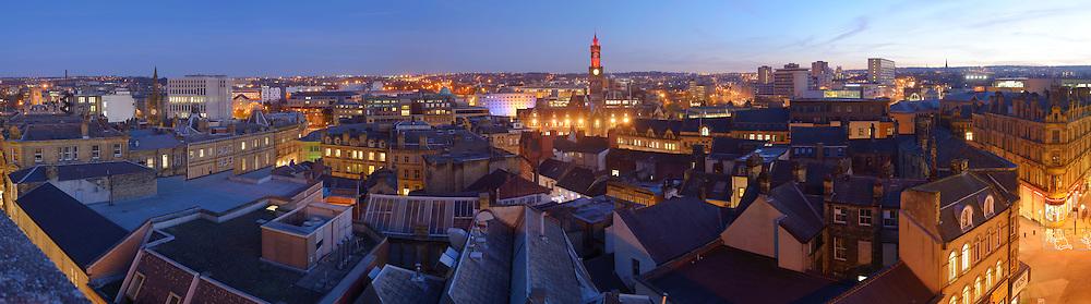Bradford panoramic city skyline