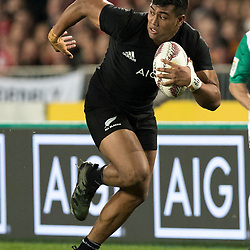 Julian Savea  during game 9 of the British and Irish Lions 2017 Tour of New Zealand, the second Test match between  The All Blacks and British and Irish Lions, Westpac Stadium, Wellington, Saturday 1st July 2017<br /> (Photo by Kevin Booth Steve Haag Sports)<br /> <br /> Images for social media must have consent from Steve Haag