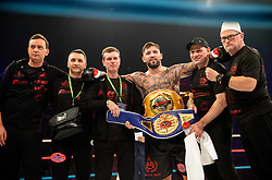 Winner Senad Gashi of Germany celebrates after winning against Ozcan Cetinkaya of Turkey during their WBF World heavyweight Title fight  at CFC 5 Fighting event, on October 6, 2019 in Arena Stozice, Ljubljana, Slovenia. Photo by Vid Ponikvar / Sportida