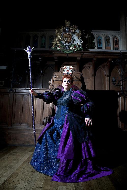 Jo Malin the BBC Regional News Presenter as the Evil Queen in Snow White - Lichfield Garrick Theatre