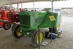 03 August 2017:  Antique John Deere tractor on display at 2017 McLean County Fair<br /> <br /> #alphoto513