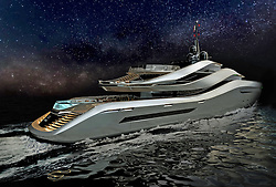 "June 3, 2017 - inconnu - The studio responsible for creating more than 100 designs for car maker Ferrari has revealed its first super-yacht.The Aurea by Italian studio Pininfarina, will have a huge beach club area and two swimming pools – one with transparent walls.And the engine is fixed in the centre of the vessel freeing up rear access to the water and creating more deck space.Pininfarina has joined forces with the Rossinavi boatyard for the 70 metre-long Aurea which is powered by a diesel electric hybrid engine. It will focus on the lifestyle of the owner and guests with a record size beach club for a ship of its size. Aurea's stern include two swimming pools, three large outdoor decks and water-level access on both sides of the hull.The design is available now for any prospective clients. The curvature of the design theme was created to offer what Pininfarina describes as "" new and unexpected opportunities to employ and enjoy the spaces and maximizing the thrill of sailing and life on board. ""At the level of the owner's deck, for example, terraces protected by windows open at the center of the ship giving a direct view to the bow.The boat's shape is harmonious and dynamic at the same time thanks to elliptical bands that characterise the superstructures linking the decks.The upper band, for example, frames the bridge and then goes downstairs, harmoniously joining the owner's deck, creating a lavish scenic effect that integrates the outer connecting staircases to the upper deck.The main part of the main deck hosts guest cabins. Here is a longitudinal balcony covered with a folding bulwark offers guests an outdoor private space during cruising and when moored in harbor. The hull's shape is also suitably shaped by integrating the longitudinal balcony with large panoramic windows on the world.The hull has a chamfered shape running from the bow to the stern.It frames a staircase with a detail inspired by the shapes of nature and at th"