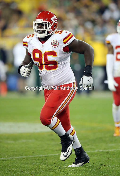 Kansas City Chiefs nose tackle Jaye Howard (96) runs off the field during the 2015 NFL week 3 regular season football game against the Green Bay Packers on Monday, Sept. 28, 2015 in Green Bay, Wis. The Packers won the game 38-28. (©Paul Anthony Spinelli)