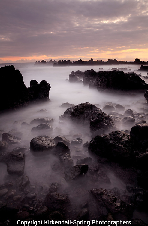 HI00380-00...HAWAI'I - Rocky coastline at Laupahoehoe Point Park along the Hamakua Coast on the island of Hawai'i.