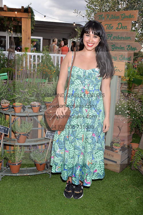 MELISSA HEMSLEY at a vintage fashion pop-up evening hosted by Dawn O'Porter at The Gardening Society, John Lewis, Oxford Street on 27th July 2016.