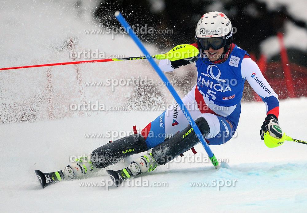 29.12.2013, Hochstein, Lienz, AUT, FIS Weltcup Ski Alpin, Lienz, Damen, Slalom 1. Durchgang, im Bild Wendy Holdener (SUI) // Wendy Holdener (SUI) during ladies Slalom 1st run of FIS Ski Alpine Worldcup at Hochstein in Lienz, Austria on 2013/12/29. EXPA Pictures © 2013, PhotoCredit: EXPA/ Erich Spiess