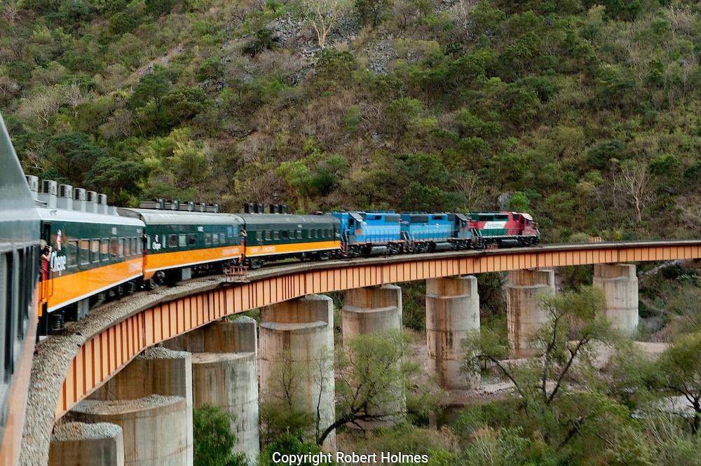 Chepe railroad through the Copper Canyon, Mexico