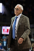 DALLAS, TX - JANUARY 7: SMU Mustangs head coach Larry Brown looks on against the Cincinnati Bearcats on January 7, 2016 at Moody Coliseum in Dallas, Texas.  (Photo by Cooper Neill/Getty Images) *** Local Caption *** Larry Brown