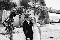 miriam & dan's coromandel wedding photos at lonely bay cooks beach by felicity jean photography