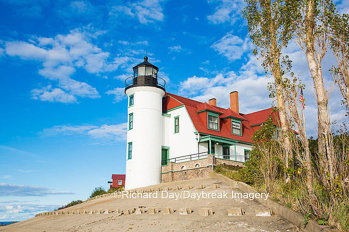 64795-00910 Point Betsie Lighthouse on Lake Michigan, Benzie County, Frankfort, MI