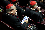 12th feb 2015 Vatican City, opening session of the Extraordinary Consistory. In the picture the cardinals listen the pope's speech
