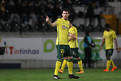 March 11, 2018 - Pacos Ferreira, Pacos Ferreira, Portugal - Pacos Ferreira's Portuguese defender Miguel Vieira (C) celebrates after scoring a goal during the Premier League 2017/18 match between Pacos Ferreira and FC Porto, at Mata Real Stadium in Pacos de Ferreira on March 11, 2018. (Credit Image: © Dpi/NurPhoto via ZUMA Press)