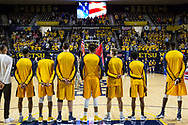 February 3, 2018 - Johnson City, Tennessee - Freedom Hall: ETSU guard Jermaine Long (24), ETSU guard Kanayo Obi-Rapu (0), ETSU center Karl Overstreet (34), ETSU forward James Harrison, ETSU guard Dillon Reppart (23), ETSU guard Jason Williams (4), ETSU center Peter Jurkin (5)<br /> <br /> Image Credit: Dakota Hamilton/ETSU