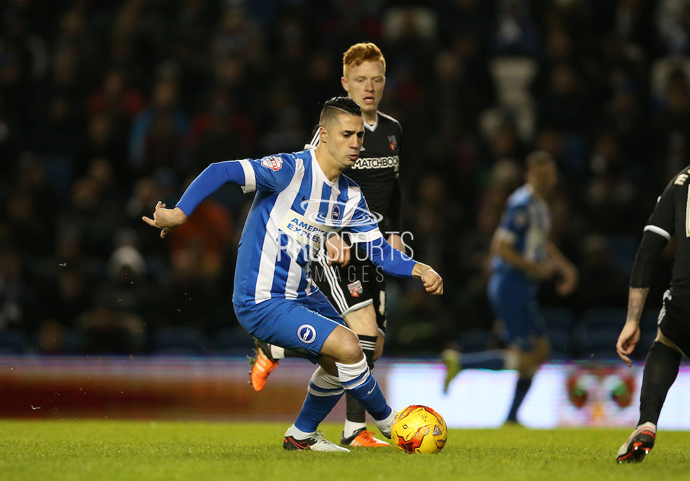 Brighton central midfielder, Beram Kayal (7) during the Sky Bet Championship match between Brighton and Hove Albion and Brentford at the American Express Community Stadium, Brighton and Hove, England on 5 February 2016.