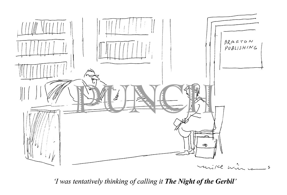 """I was tenatatively thinking of calling it The Night of the Gerbil"""
