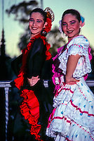 Flamenco dancers, Park of Maria Luisa, Sevilla (Seville), Spain
