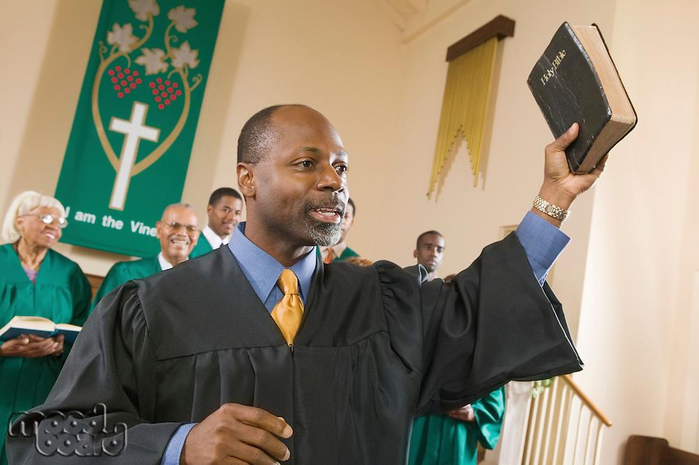 Preacher Preaching the Gospel
