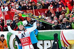 27.01.2013, Ganslernhang, Kitzbuehel, AUT, FIS Weltcup Ski Alpin, Slalom, Herren, Podium, im Bild  Marcel Hirscher (AUT)  // celebrate on podium during the mens Slalom of the FIS Ski Alpine World Cup at the Ganslernhang course, Kitzbuehel, Austria on 2013/01/27. EXPA Pictures © 2013, PhotoCredit: EXPA/ Markus Casna