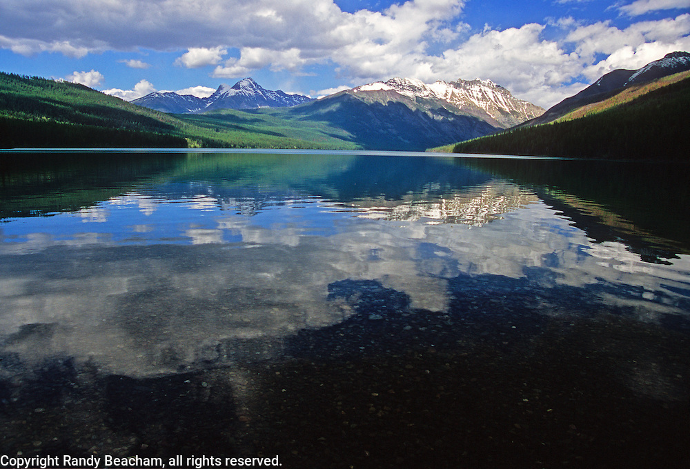 Kintla Lake in summer. Glacier National Park, northwest Montana