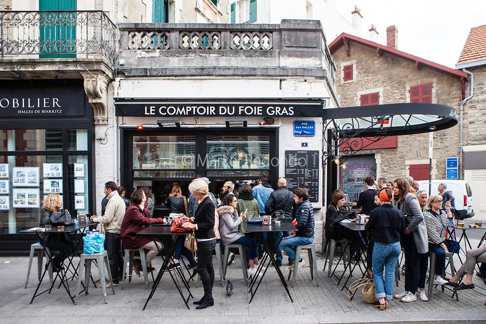 Le Comptoir du Foie Gras in Biarritz, France.