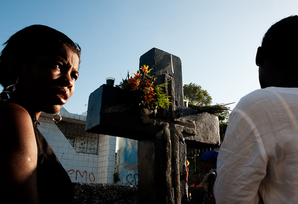 In a Port au Prince cemetery.