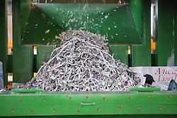 Shredding machine at Ollerton recycling plant,