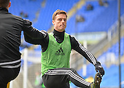 Fulham midfielder Scott Parker warming up during the Sky Bet Championship match between Reading and Fulham at the Madejski Stadium, Reading, England on 5 March 2016. Photo by Adam Rivers.
