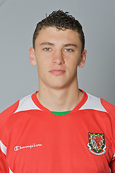 SWANSEA, WALES - Monday, March 30, 2009: Wales' Under-21 James Wilson. (Photo by David Rawcliffe/Propaganda)
