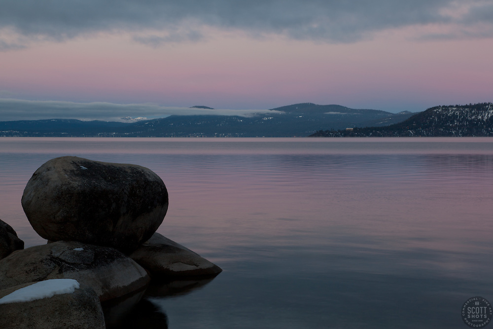 """""""Tahoe Boulders at Sunrise 17""""- These boulders were photographed at sunrise near Memorial Point, Lake Tahoe."""