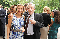 KATRIN BELLINGER and SIR NORMAN ROSENTHAL at a party to celebrate the 250th anniversary of the Colnaghi Gallery held at Spencer House, London on 1st July 2010.