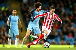 Ibrahim Afellay of Stoke City and Leroy Sane of Manchester City - Mandatory by-line: Matt McNulty/JMP - 08/03/2017 - FOOTBALL - Etihad Stadium - Manchester, England - Manchester City v Stoke City - Premier League