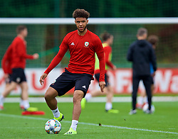 CARDIFF, WALES - Tuesday, September 4, 2018: Wales' Tyler Roberts during a training session at the Vale Resort ahead of the UEFA Nations League Group Stage League B Group 4 match between Wales and Republic of Ireland. (Pic by David Rawcliffe/Propaganda)