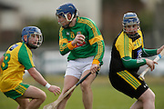 NHL Division 2B at Trim, 6th March 2016<br /> Meath vs Donegal<br /> Stephen Morris (Meath) and Dara Grant / Paul Burns (Donegal)<br /> Photo: David Mullen /www.cyberimages.net / 2016