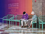 Having a break at Wintergarden at Battery Park City, New York