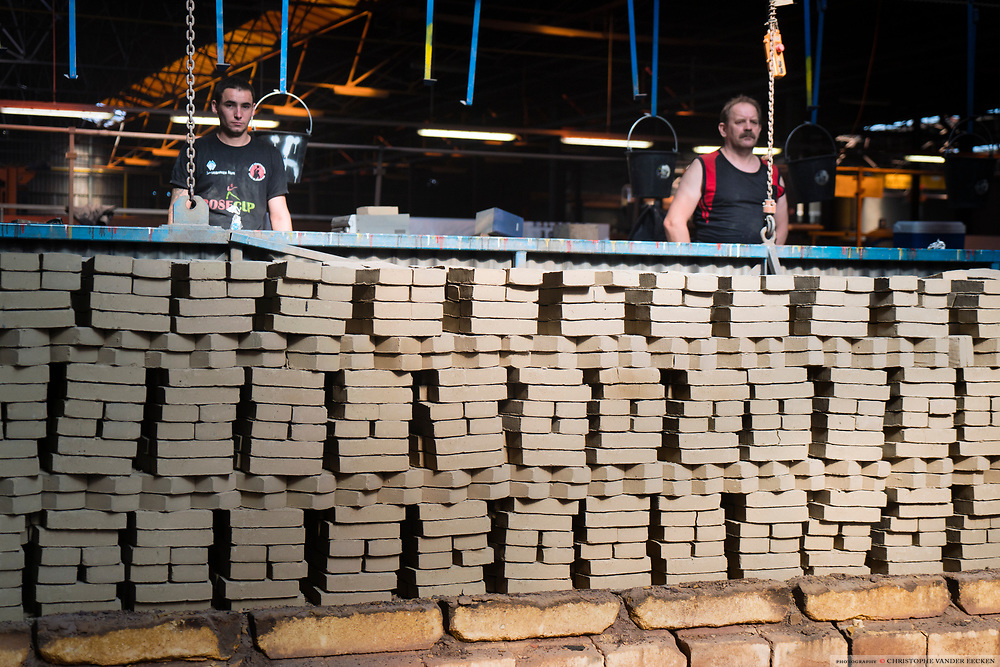 Oudenaarde, Belgium, 13 jul 2017, Brickworks Vande Moortel was established in 1864 in the Scheldt Valley and today the only industrial manufacturer left in the region. They are specialised in hand made authentic bricks made with clay from the river #scheldt #schelde #escaut