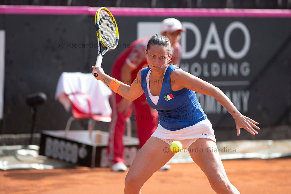 Roberta VINCI (ITA) | FED CUP 2013, World Group Semifinals :: ITA vs CZE :: 1st day - Apr, 20th 2013.