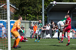 NEWTOWN, WALES - Sunday, May 6, 2018: Michael Wilde of Conahs Quay Nomads scores a goal but it is ruled out for by the assistant referee during the FAW Welsh Cup Final between Aberystwyth Town and Connahs Quay Nomads at Latham Park. (Pic by Paul Greenwood/Propaganda) Rob Hughes Jonny Spittle