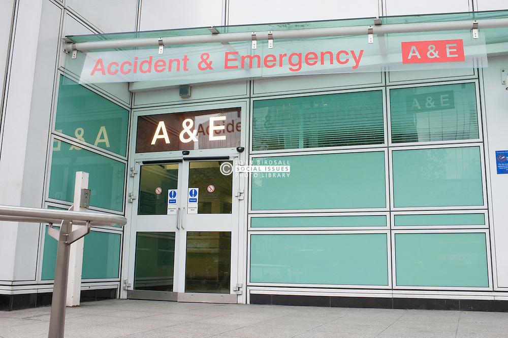 University College Hospital Accident and Emergency entrance, Marylebone Road, London