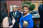 NAND KHEMKA; PRINCESS NEET NABHA KHEMKA, Drinks party to launch this year's Frieze Masters.Hosted by Charles Saumarez Smith and Victoria Siddall<br />  Academicians' room - The Keepers House. Royal Academy. Piccadilly. London. 3 July 2014