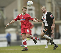 Photo: Aidan Ellis.<br /> Grimsby Town v Swindon Town. Coca Cola League 2. 17/03/2007.<br /> Swindon's Michael Pook (L) and Grimsby's James Hunt