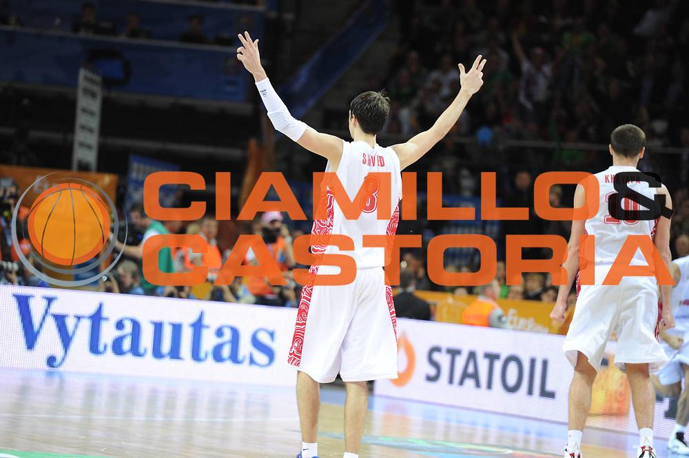 DESCRIZIONE : Kaunas Lithuania Lituania Eurobasket Men 2011 Quarter Final Round Russia Serbia<br /> GIOCATORE : Aleksey Shved<br /> CATEGORIA : Esultanza ritratto<br /> SQUADRA : Russia<br /> EVENTO : Eurobasket Men 2011<br /> GARA : Russia Serbia<br /> DATA : 15/09/2011<br /> SPORT : Pallacanestro <br /> AUTORE : Agenzia Ciamillo-Castoria/GiulioCiamillo<br /> Galleria : Eurobasket Men 2011<br /> Fotonotizia : Kaunas Lithuania Lituania Eurobasket Men 2011 Quarter Final Round Russia Serbia<br /> Predefinita :