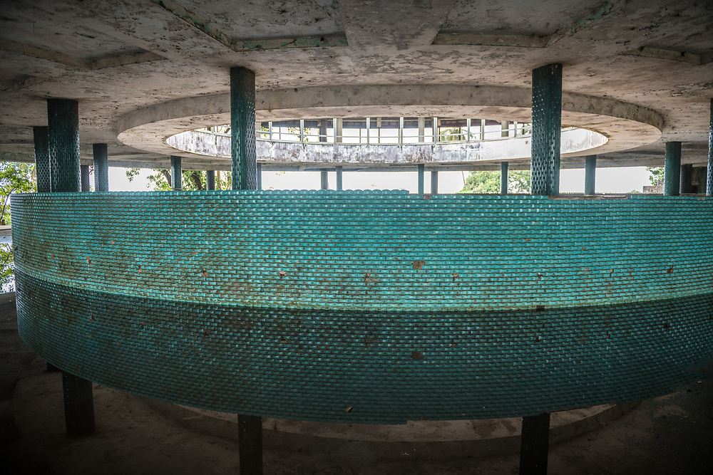 The interior of the abandoned Ducor Hotel, once the most prominent hotels in Monrovia, Liberia