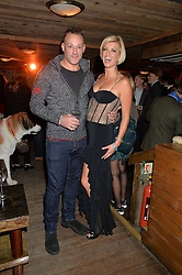 TOBY ANSTIS and CAROLINE FERADAY at Skiing With Heroes Junior Committee Awareness Party held at Bodo's Schloss, 2A Kensington High Street, London on 6th November 2014.
