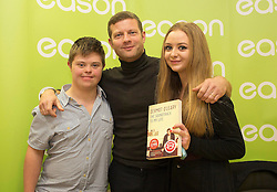 Repro Free: 13/11/2014 Pictured here is Dermot O&rsquo;Leary at the signing of his new book, &lsquo;The Soundtrack to My Life&rsquo;, today in Eason O&rsquo;Connell Street with Josh (19) and Ava Healy (17) from Kildare<br /> . O&rsquo;Leary&rsquo;s book, The Soundtrack to My Life, is currently on sale in Eason stores nationwide and online at www.easons.com retailing at &euro;18.99. Picture Andres Poveda<br />  <br /> For further information, please contact: <br /> Shane Lennon @ Wilson Hartnell<br /> 087 900 0320 / 01 669 0030